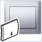 Клавиша простая с пиктограммой Лампа Legrand Galea Life Алюминий 771344