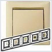 Рамка 5-ая Кремовый-золото Legrand Valena 774155