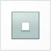 АББ - ABB - Sky - Скай - Лицевая панель - Центральная плата - Накладка для телекомунникационной розетки - Компьютерной розетки - Накладка - вставка - механизм для коммуникационных устройств - 2CLA851700A1301