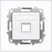 АББ - ABB - Sky - Скай - Лицевая панель - Центральная плата - Накладка для телекомунникационной розетки - Компьютерной розетки - Накладка - вставка - механизм для коммуникационных устройств - 2CLA851810A1101