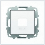 АББ - ABB - Зарядка - Sky - Скай - USB - Лицевая панель - Накладка на USB зарядное устройство - Накладка - вставка - механизм для коммуникационных устройств - 2CLA858500A1101