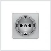 АББ - Розетка - ABB - Sky - Skymoon - Скай - Скаймун - Мун - Moon - 222316 - Электроустановочные изделия - Розетка силовая (штепсельная) - 2CLA858800A1301