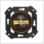 Bironi выключатель двухклавишный, цвет коричневый Коллекция шедель B3-202-22