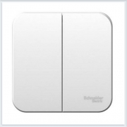 Blanca Белый Выключатель 2-клавишный 6А, 250B