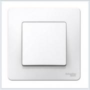 Blanca Белый Выключатель 1-клавишный, 6А, 250B