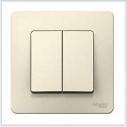 Blanca Молочный Выключатель 2-клавишный 6А, 250В