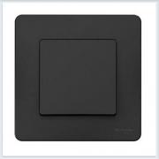 Blanca Антрацит Выключатель 1-клавишный, 10А, 250B