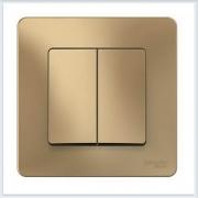 Blanca Титан Выключатель 2-клавишный, 10А, 250B