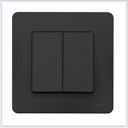 Blanca Антрацит Выключатель 2-клавишный, 10А, 250B