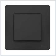 Blanca Антрацит Переключатель 1-клавишный, 10А, 250B