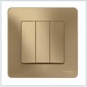 Blanca Титан Выключатель 3-клавишный, 10А, 250B