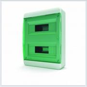 Щит навесной 24 модулей зеленая дверь Tekfor - BNZ 40-24-1