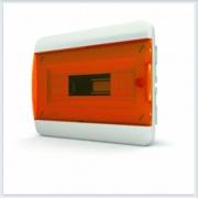 Щит встраиваемый 8 модулей оранжевая дверь Tekfor - BVO 40-08-1