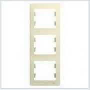 Рамка 3-я, вертикальная Glossa Бежевый GSL000207