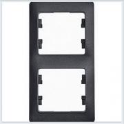 Рамка 2-я, вертикальная Glossa Антрацит GSL000706