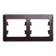 Рамка 2-я, горизонтальная Glossa Шоколад GSL000802