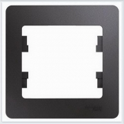 Рамка 1-ая Glossa Графит  GSL001301
