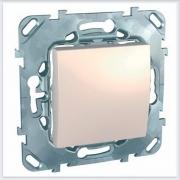 Выключатель 1-клавишный цвет Бежевый Schneider-Electric Unica - MGU5.201.25ZD