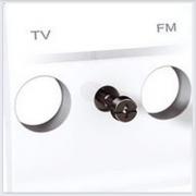 Накладка розетки TV 1-ая цвет Белый Schneider-Electric Unica - MGU9.440.18