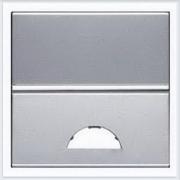АББ - ABB - Zenit - Зенит - Клавиша выключателя - С окошком для символа - С окном - Накладка для выключателей - диммеров - жалюзийных переключателей - таймеров - 2CLA220190N1301