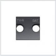 АББ - ABB - Zenit - Зенит - Накладка телевизионной розетки - Лицевая панель - Тв розетки - Спутниковой розетки - Накладка - вставка - механизм для коммуникационных устройств - 2CLA225010N1801
