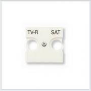 АББ - ABB - Zenit - Зенит - Накладка телевизионной розетки - Лицевая панель - Тв розетки - Спутниковой розетки - Накладка - вставка - механизм для коммуникационных устройств - 2CLA225010N1101