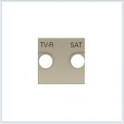 АББ - ABB - Zenit - Зенит - Накладка телевизионной розетки - Лицевая панель - Тв розетки - Спутниковой розетки - Накладка - вставка - механизм для коммуникационных устройств - 2CLA225010N1901