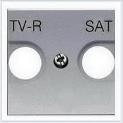 АББ - ABB - Zenit - Зенит - Накладка телевизионной розетки - Лицевая панель - Тв розетки - Спутниковой розетки - Накладка - вставка - механизм для коммуникационных устройств - 2CLA225010N1301