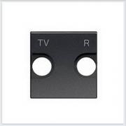 АББ - ABB - Zenit - Зенит - Накладка телевизионной розетки - Лицевая панель - Тв розетки - Спутниковой розетки - Накладка - вставка - механизм для коммуникационных устройств - 2CLA225080N1801