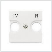 АББ - ABB - Zenit - Зенит - Накладка телевизионной розетки - Лицевая панель - Тв розетки - Спутниковой розетки - Накладка - вставка - механизм для коммуникационных устройств - 2CLA225080N1101