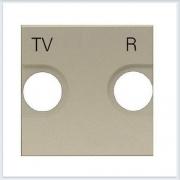 АББ - ABB - Zenit - Зенит - Накладка телевизионной розетки - Лицевая панель - Тв розетки - Спутниковой розетки - Накладка - вставка - механизм для коммуникационных устройств - 2CLA225080N1901