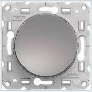 Выключатель кнопочный 1-клавишный Алюминий Schneider-Electric Коллекция Odace арт. S53R206
