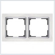 Рамка на 2 поста белая Werkel (Веркель) Коллекция Snabb - WL03-Frame-02
