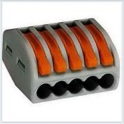 WAGO Клемма монтажная на 5х0,08-2,5 (5х0,08-4 тонкопроволочные ) с рычагами