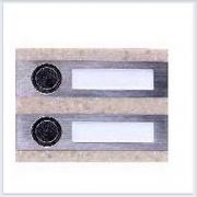 Кнопка звонка 2-я декоративная прямоугольная Zamel (Замель) - PDK 250/1(темный)