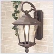 Virgo D капучино уличный настенный светильник