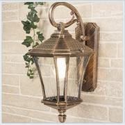 Virgo D черное золото уличный настенный светильник