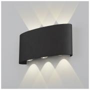 Twinky trio чёрный уличный настенный светодиодный светильник