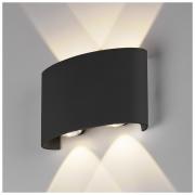 Twinky double чёрный уличный настенный светодиодный светильник