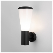 Настенный уличный светильник IP54 чёрный