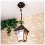 Apus H черное золото уличный подвесной светильник IP33