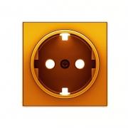 АББ - Розетка - ABB - Sky - Skymoon - Скай - Скаймун - Мун - Moon - 222316 - Электроустановочные изделия - Розетка силовая (штепсельная) - 2CLA858890A1001