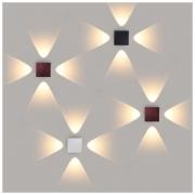 Kvatra красно-черный уличный настенный светодиодный светильник