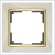 Рамка на 1 пост слоновая кость Werkel (Веркель) Коллекция Snabb - WL03-Frame-01-GD