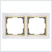 Рамка на 2 поста белая Werkel (Веркель) Коллекция Snabb - WL03-Frame-02-GD