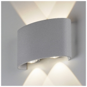 Twinky double серый уличный настенный светодиодный светильник