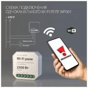 Wi-Fi реле 1 канал 2300 Вт WF001
