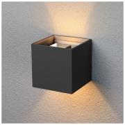 Winner черный уличный настенный светодиодный светильник