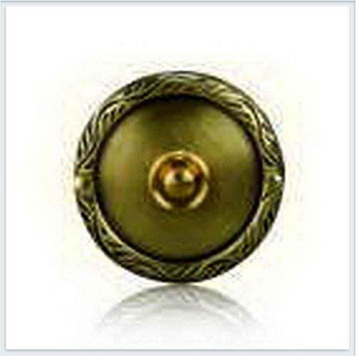 Кнопка звонка (медь) с круглой табличкой Zamel (Замель) - PDM 231