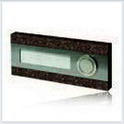 Кнопка звонка 1-я декоративная прямоугольная Zamel (Замель) - PDK 250/1